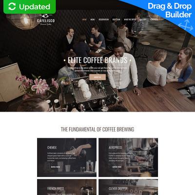 Kaffeställe Responsivt Moto CMS 3-mall