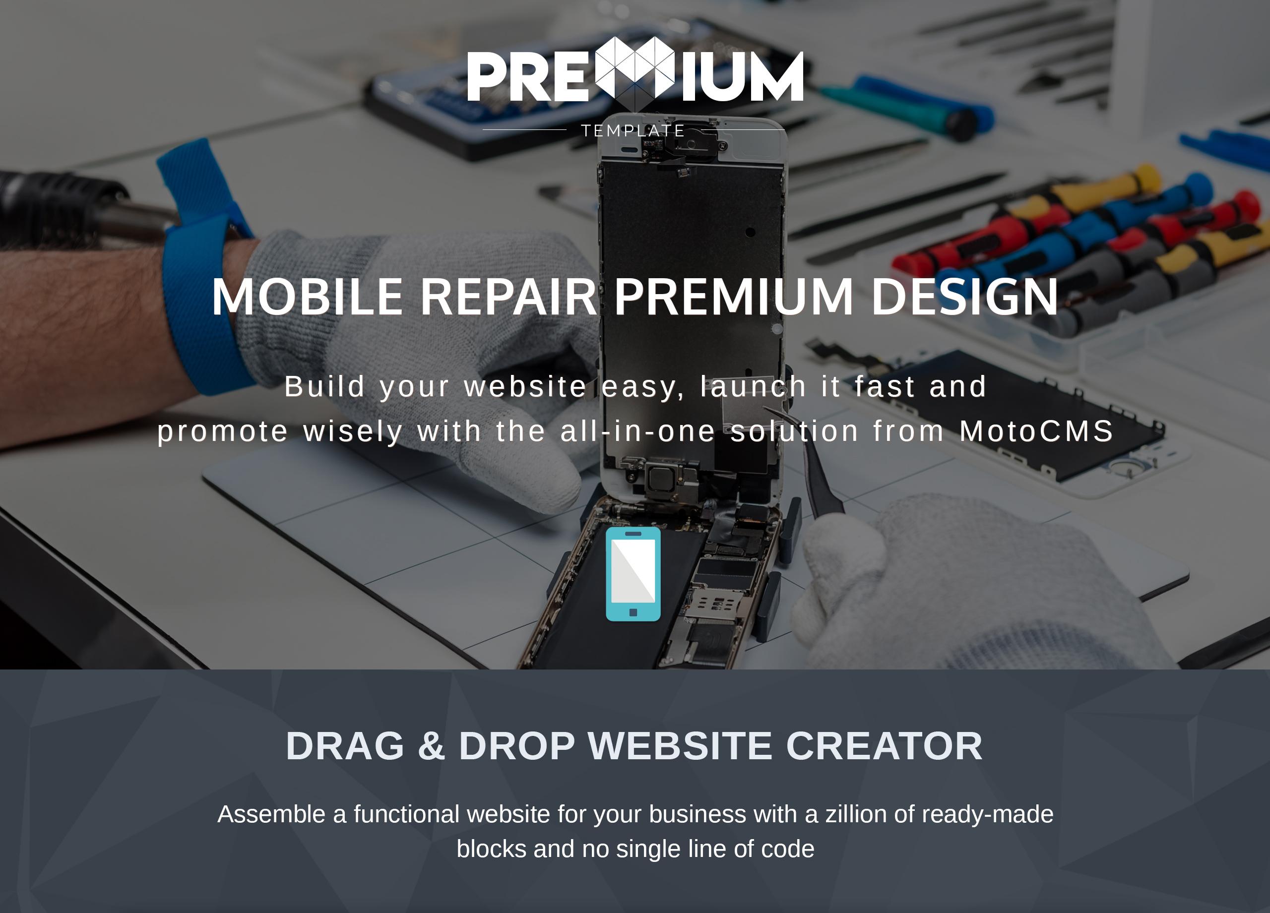 Mobilland - Mobile Repair Services Moto CMS 3 Template