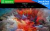Responsivt Moto CMS 3-mall för konstgalleri New Screenshots BIG