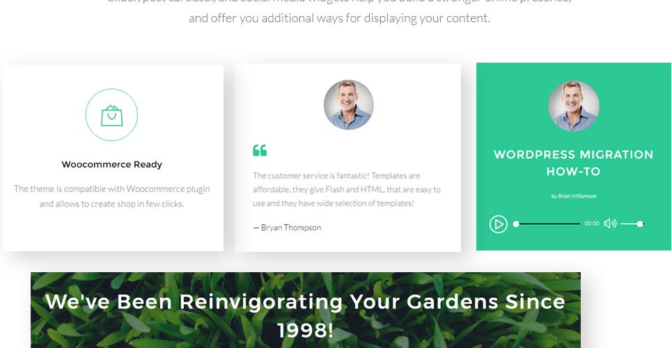 WordPress Theme #63489 für Gartendesign