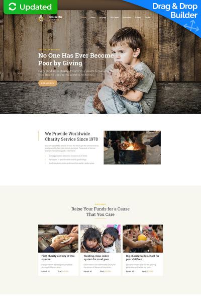 Адаптивный MotoCMS 3 шаблон №63459 на тему детская благотворительность #63459