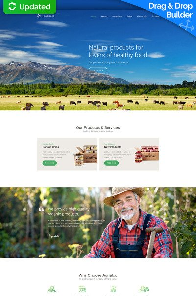 Agriculture Responsive MotoCMS 3 шаблон