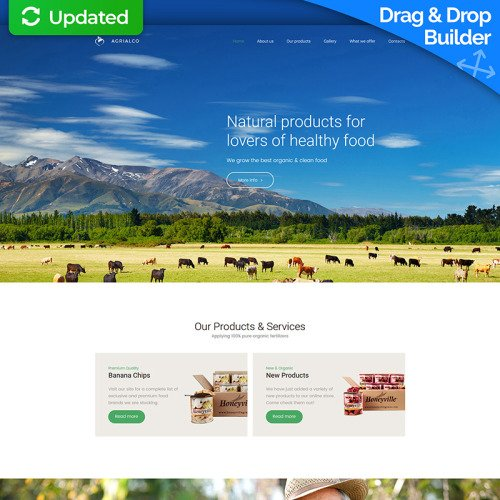 Agrialco - MotoCMS 3 Template based on Bootstrap
