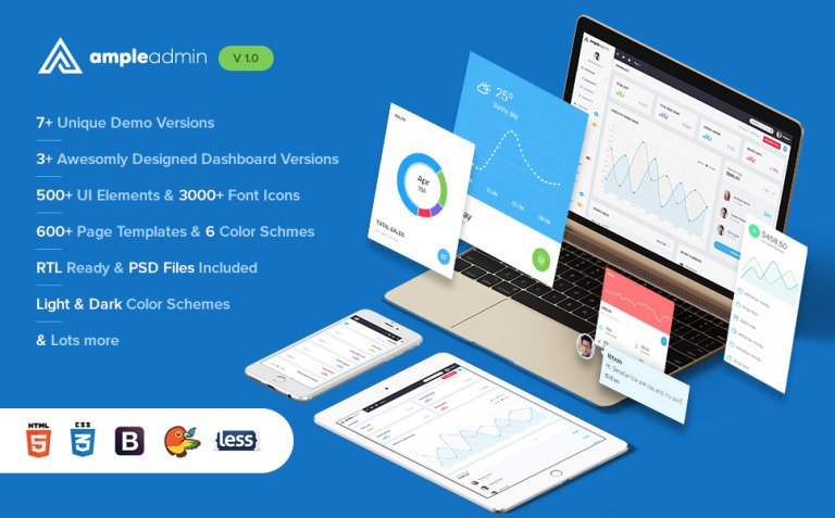 Ample Admin - Ultimate Dashboard Template Admin Template New Screenshots BIG
