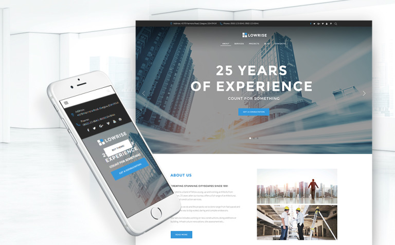 Architect Services Portfolio WordPress Theme New Screenshots BIG