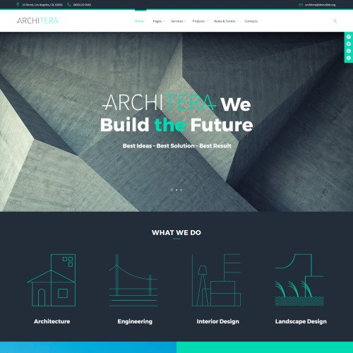 Architera  - Responsive WordPress Template