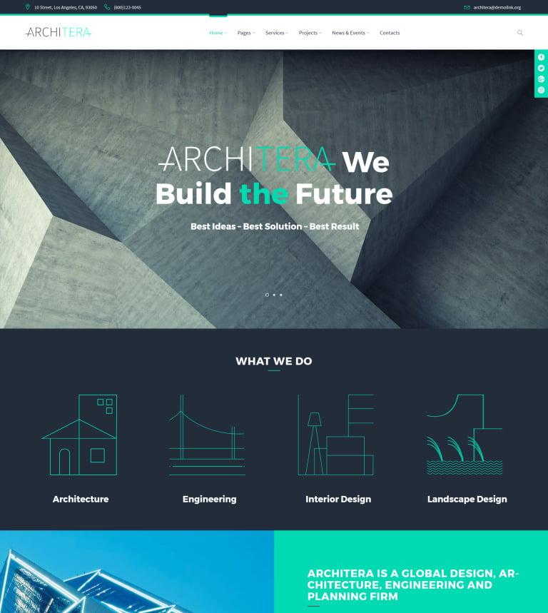 architera architecture firm responsive wordpress theme new screenshots big