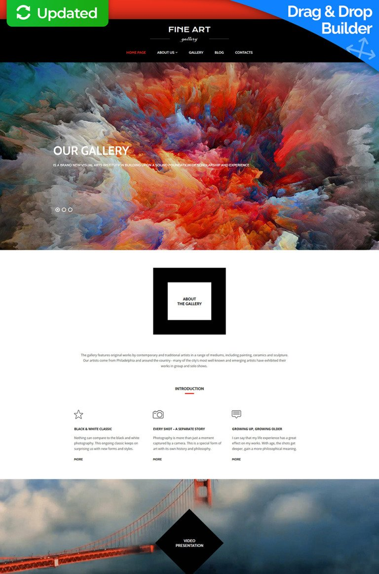 Art Gallery Responsive Moto CMS 3 Template New Screenshots BIG
