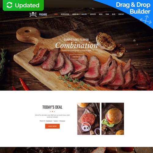 Bbq Restaurant - MotoCMS 3 Template based on Bootstrap