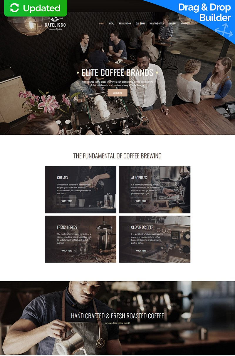 Cafelisco - Premium Moto CMS 3 Template - screenshot