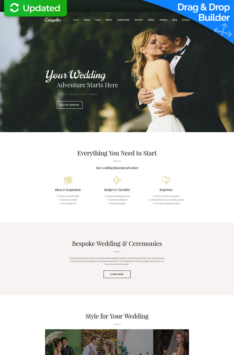 Cavyalia - Wedding Premium Moto CMS 3 Template New Screenshots BIG