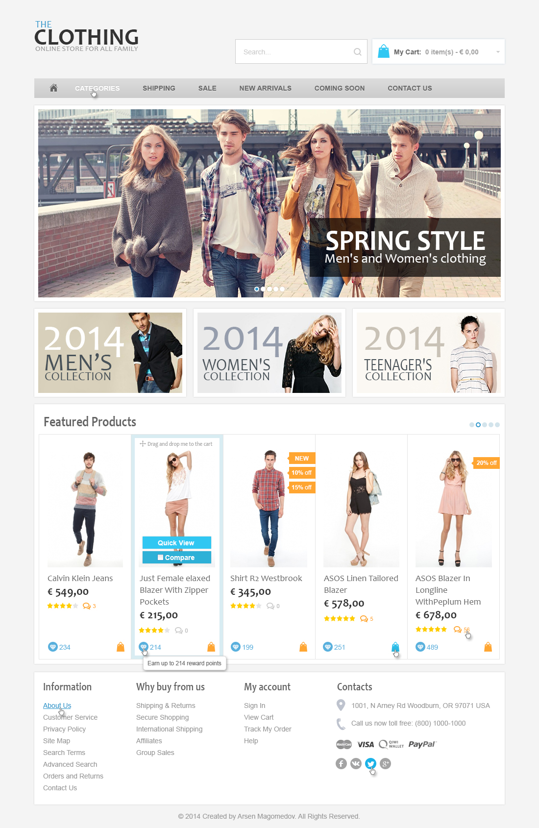 Clothing X-Cart Template