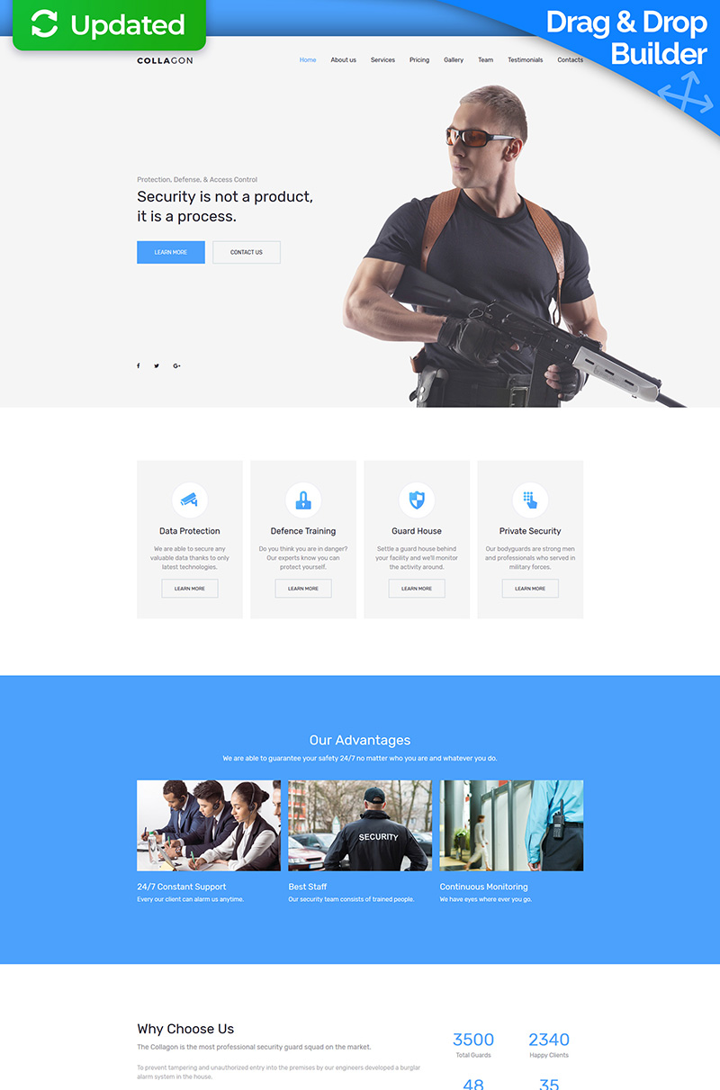 """Collagon - Premium"" Responsive Moto CMS 3 Template №63469"