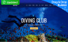 """Deepdive - Sports & Outdoors & Diving"" Responsive Moto CMS 3 Template New Screenshots BIG"