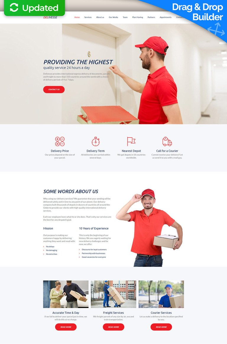 Delivesse - Delivery Services Premium Moto CMS 3 Template New Screenshots BIG