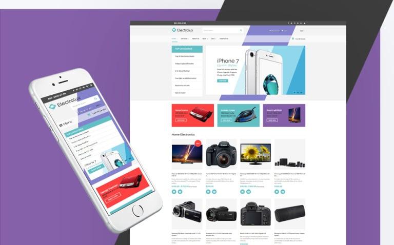 Electronics Store Responsive Shopify Theme New Screenshots BIG