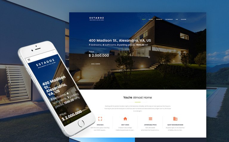 Estadoz - Real Estate Agency WordPress Theme New Screenshots BIG
