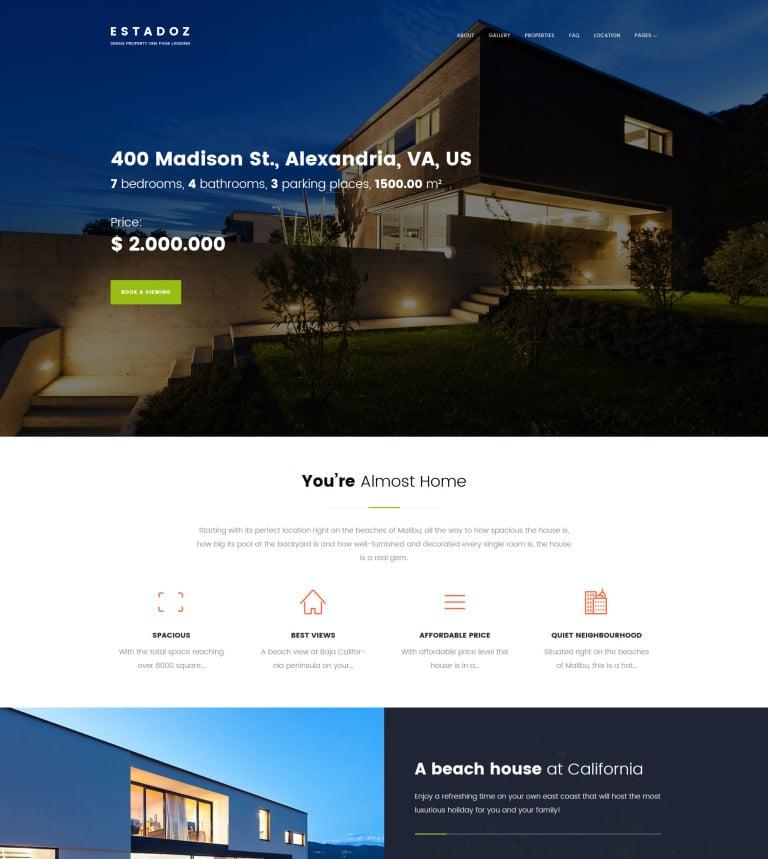 Estadoz - Real Estate Agency WordPress Theme