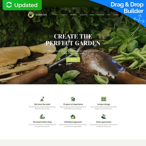 Gardenex  - MotoCMS 3 Template based on Bootstrap