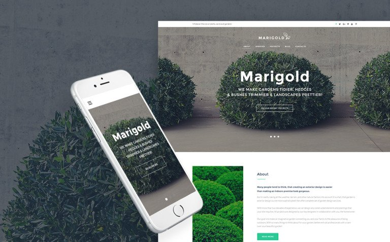 Gardening & Landscape Design WordPress Theme New Screenshots BIG