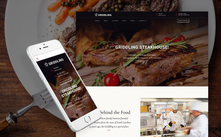 Griddling - Meat & Barbecue Restaurant WordPress Theme New Screenshots BIG