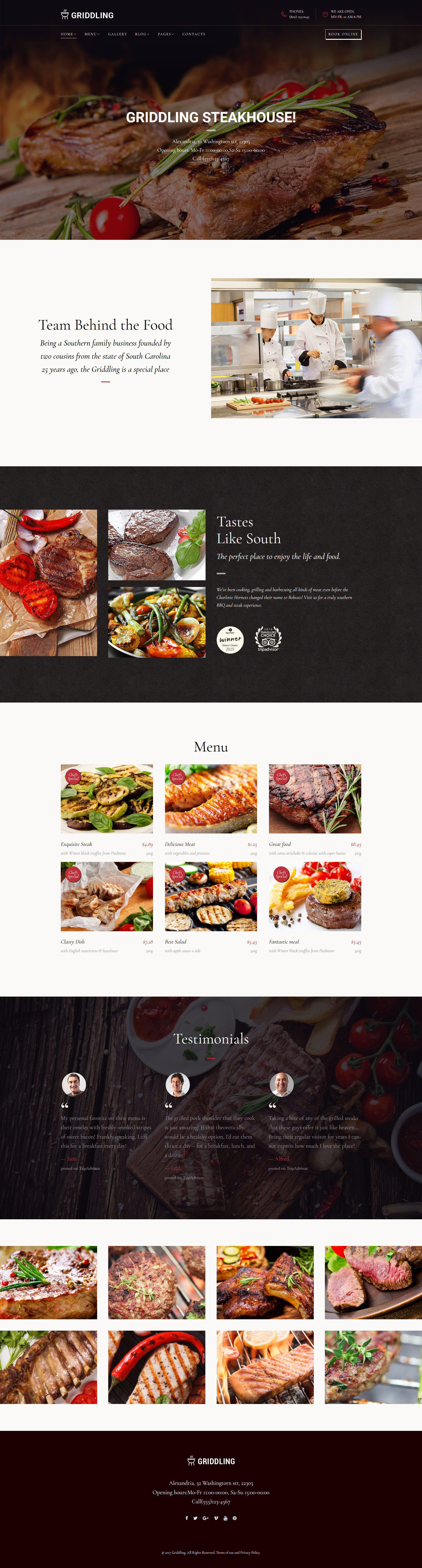 Griddling - Meat & Barbecue Restaurant WordPress Theme