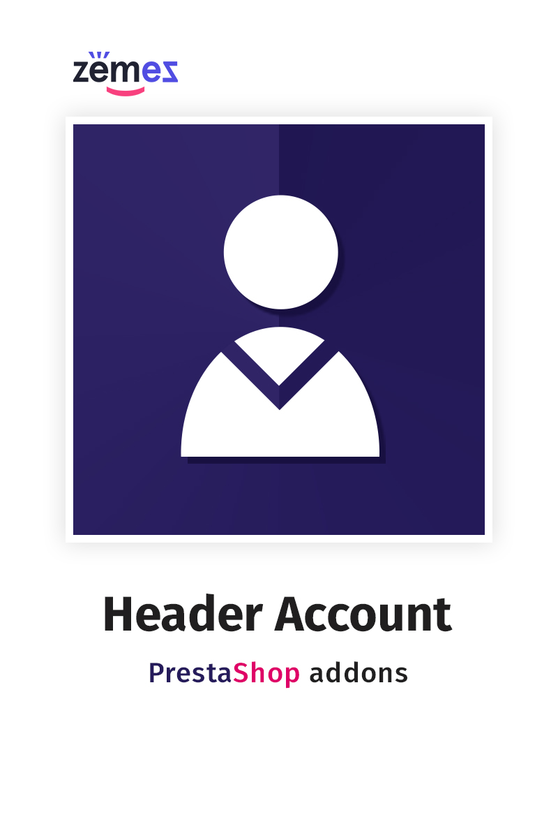 """Header Account"" extension pour PrestaShop   #63421"
