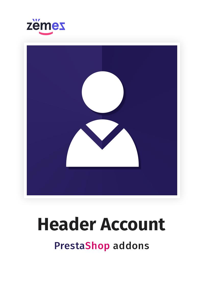 """""""Header Account"""" PrestaShop Uitbreiding №63421"""