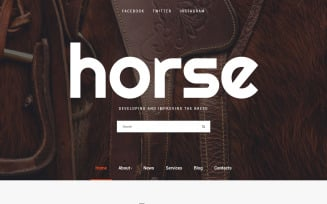 Horse - Horse Farm Animals Website Template