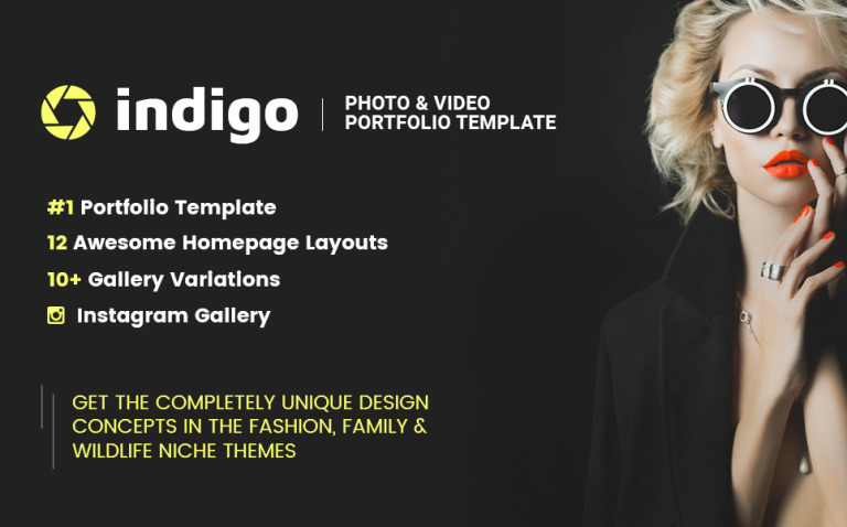 Indigo - Photo & Video Portfolio Multipurpose HTML Website Template New Screenshots BIG