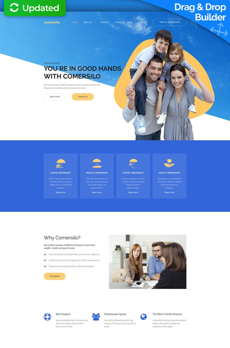 Insurance Responsive Moto CMS 3 Template New Screenshots BIG