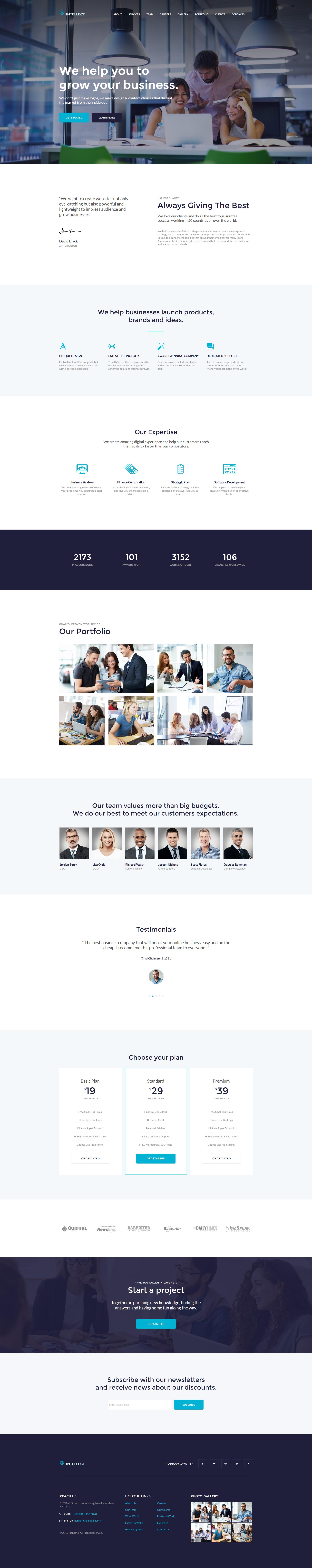 Інтелект - Шаблон HTML для бізнесу Moto CMS