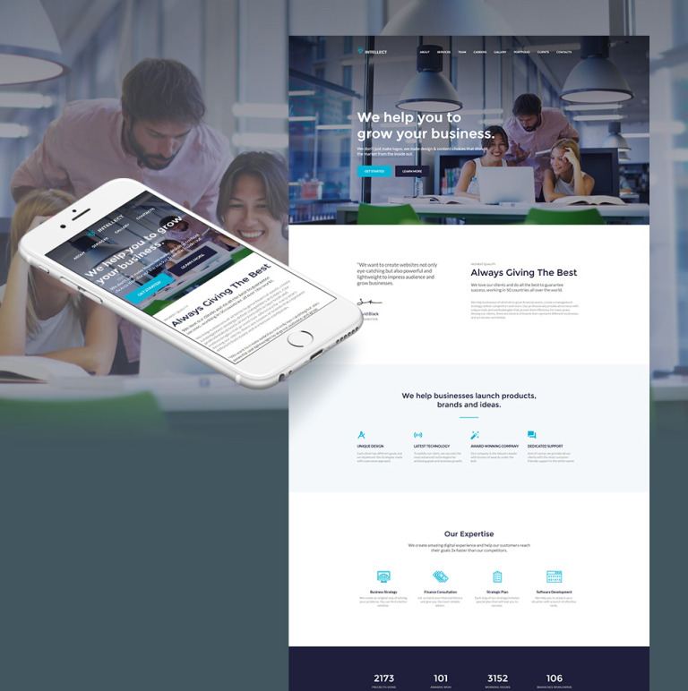 Intellect - Business Moto CMS HTML Template New Screenshots BIG