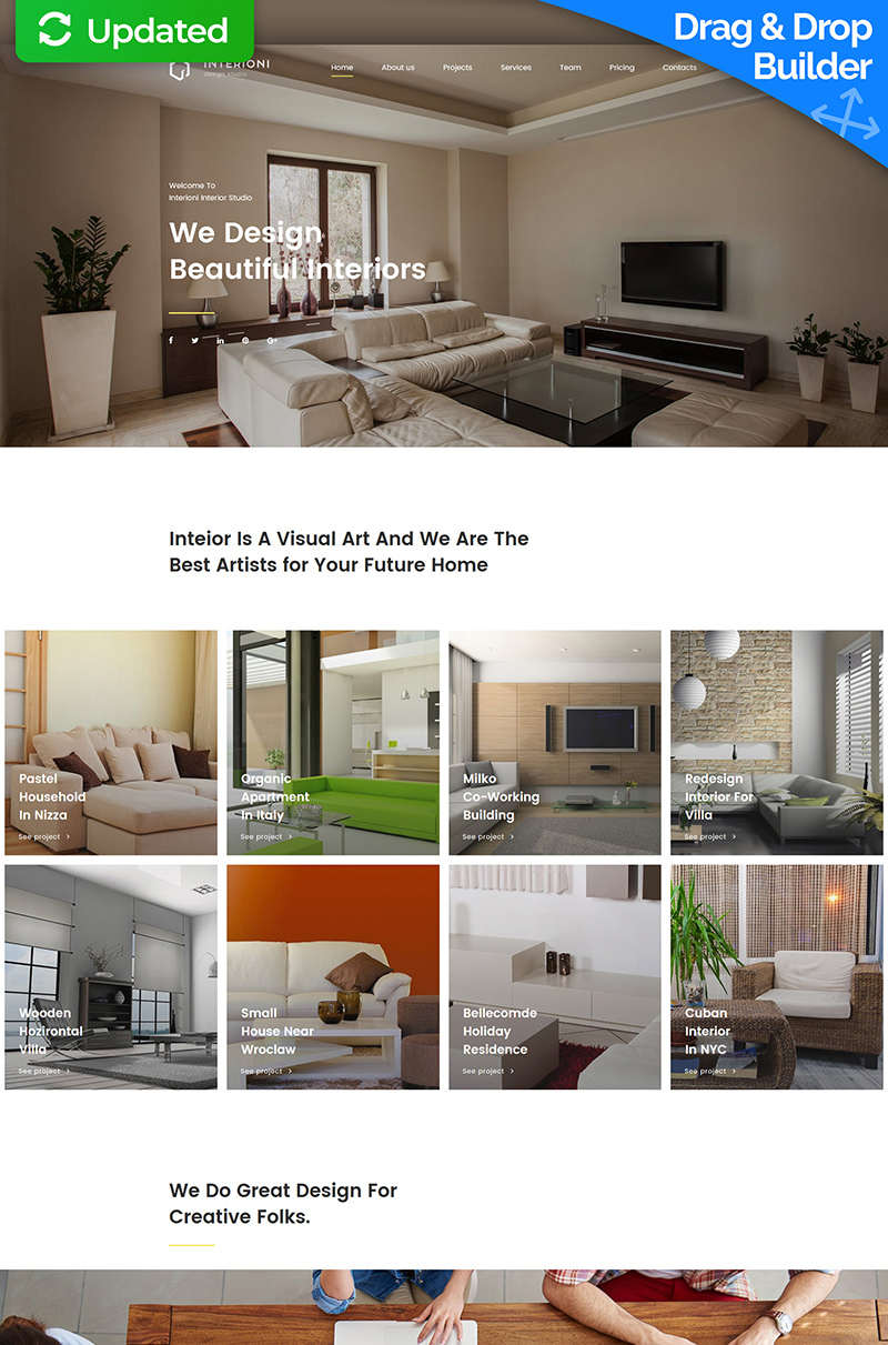 Interior Design Templates | TemplateMonster