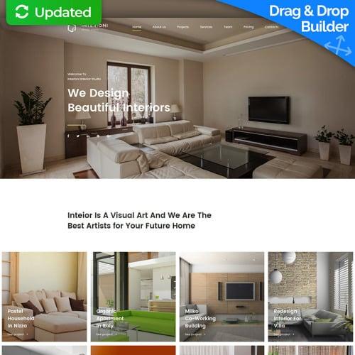 Interior - Interior Designer Template based on Bootstrap