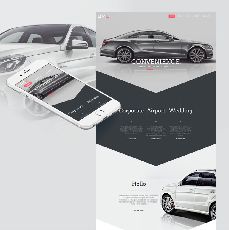 Limousine Services Moto CMS HTML Template New Screenshots BIG