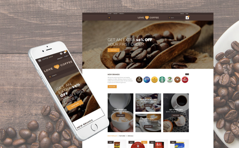 Love Coffee - Coffee House OpenCart Template New Screenshots BIG