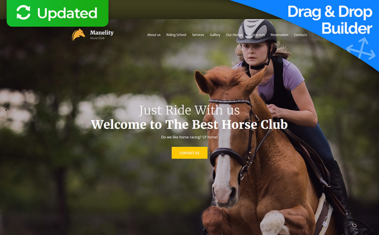 Manelity equestrian horse riding club premium moto cms 3 template yadclub Images