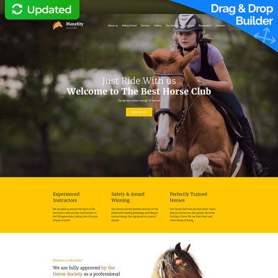 Manelity equestrian horse riding club premium moto cms 3 template horse racing responsive moto cms 3 template yadclub Images