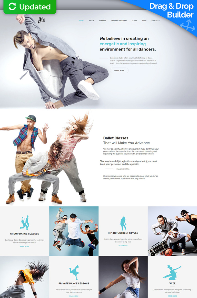 MC - Dance Studio Premium Moto CMS 3 Template New Screenshots BIG
