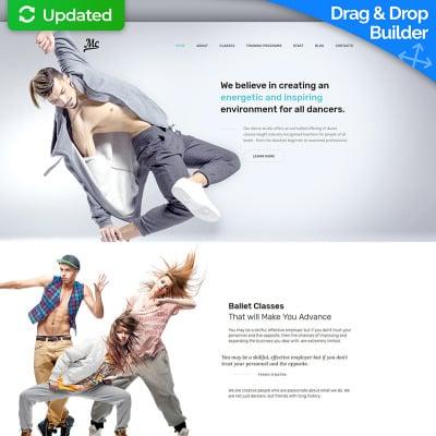 Dance Studio Responsive Moto CMS 3 Template 59503