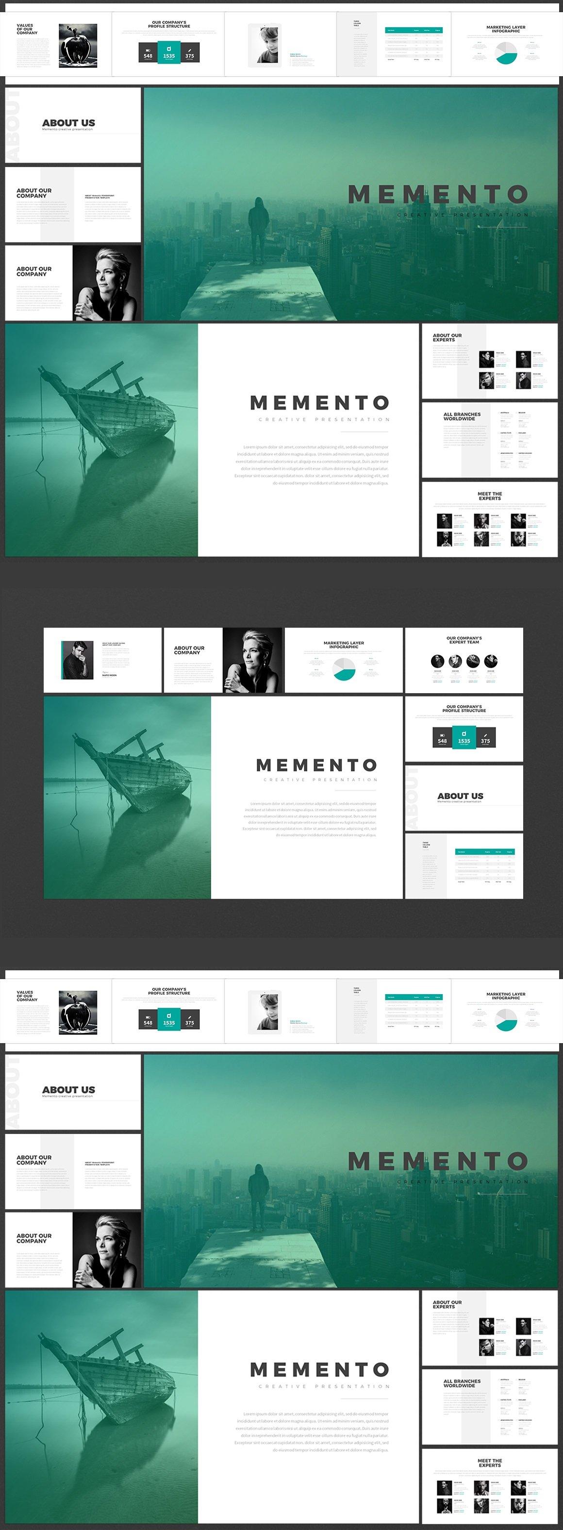 """""""Memento"""" PowerPoint Template №63411 - screenshot"""