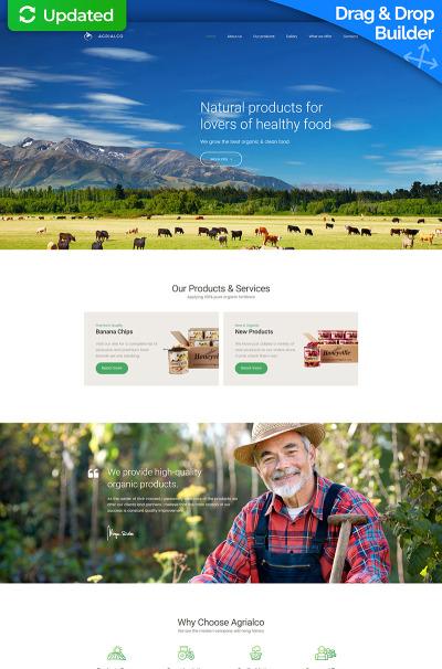 Responsives Moto CMS 3 Template für Landwirtschaft