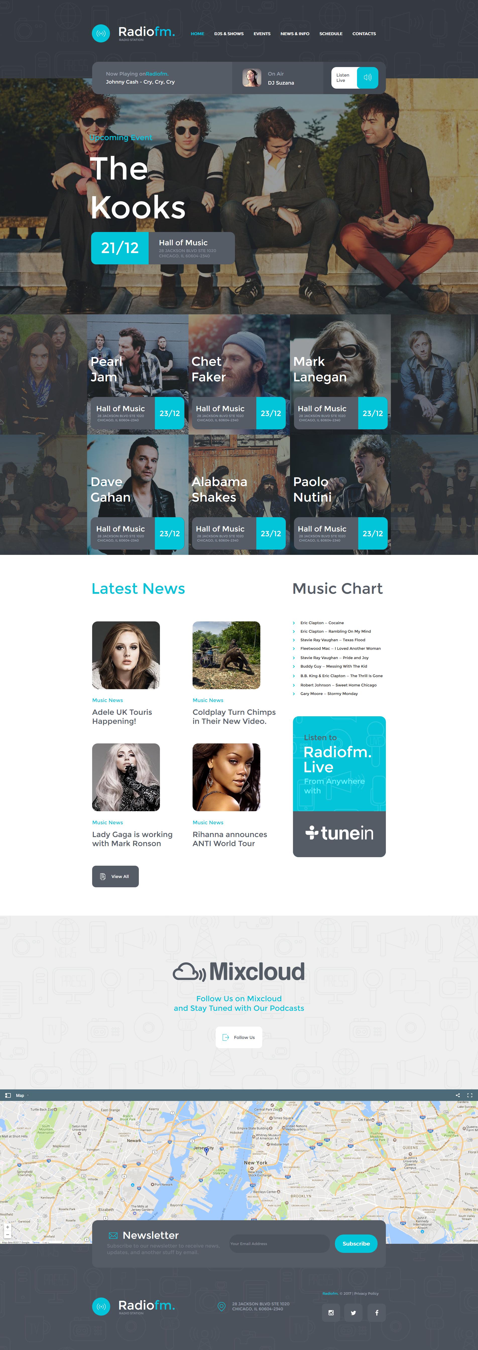 Moto CMS HTML Vorlage für Radio Website #63442