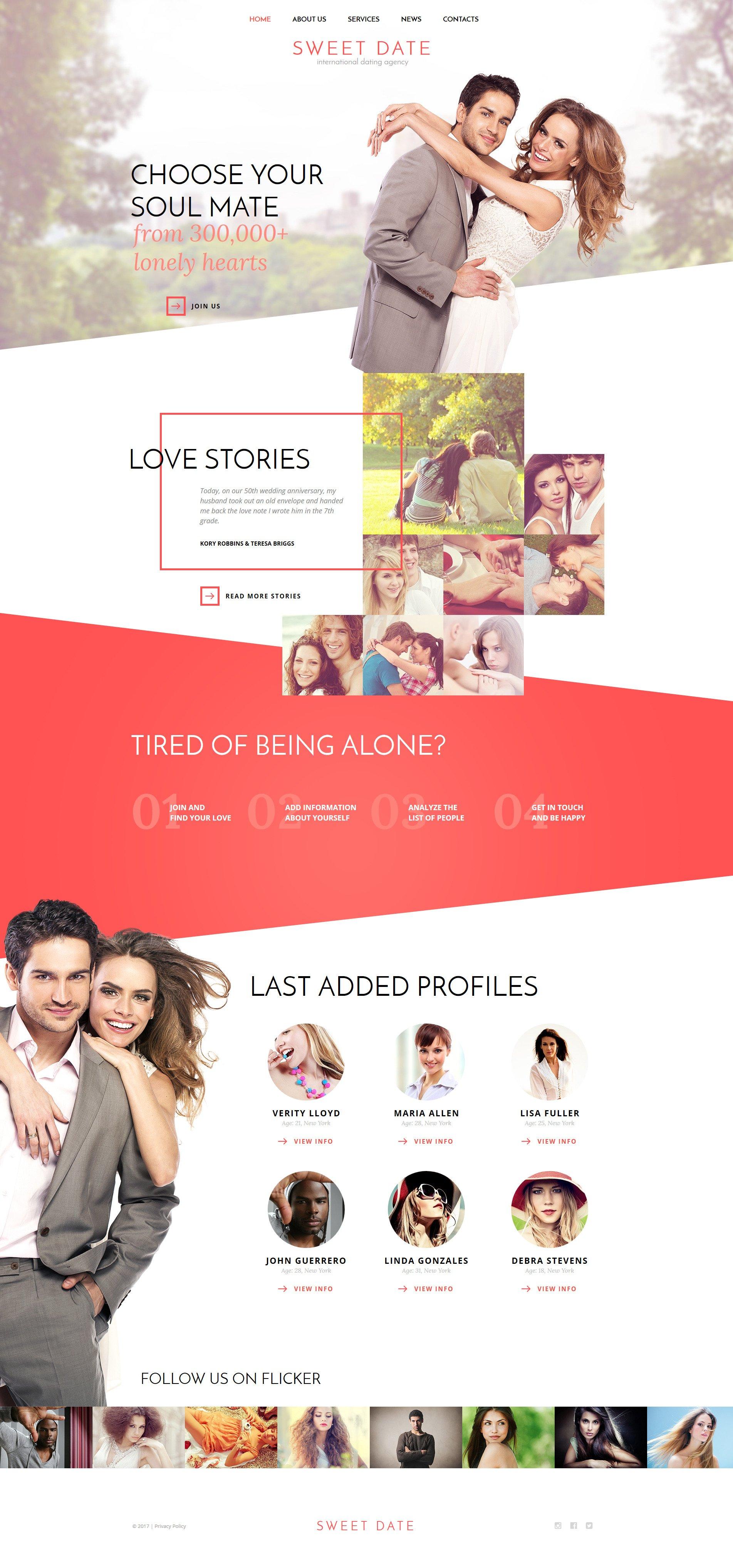 Правила создания сайта для знакомств