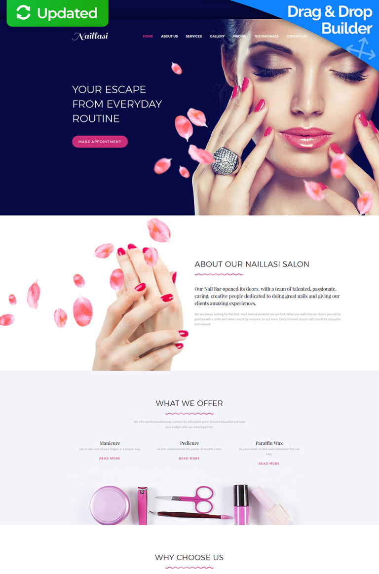 Naillasi - Manicure & Nail Supplies Premium Moto CMS 3 Template New Screenshots BIG