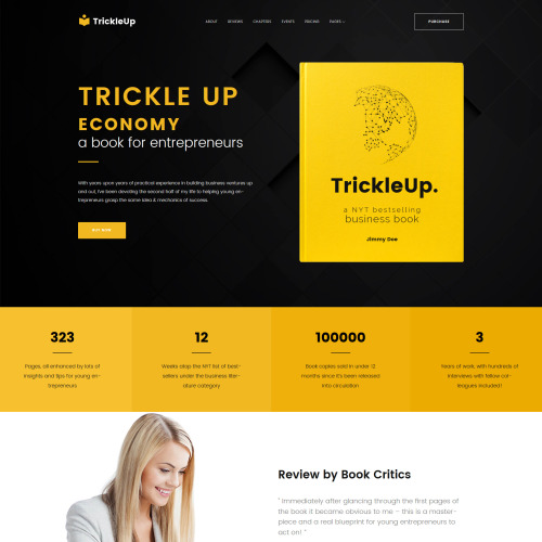 Trickleup - Responsive WordPress Template