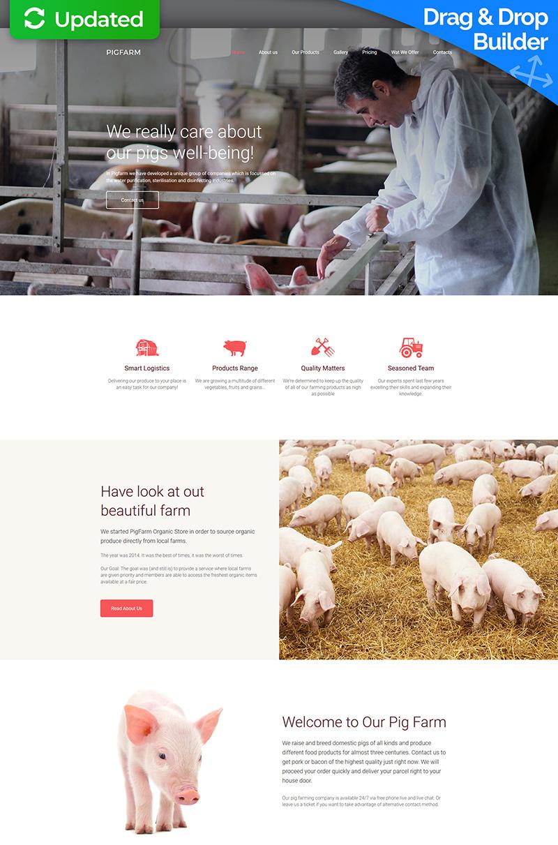 Pig Farm - Premium Moto CMS 3 Template