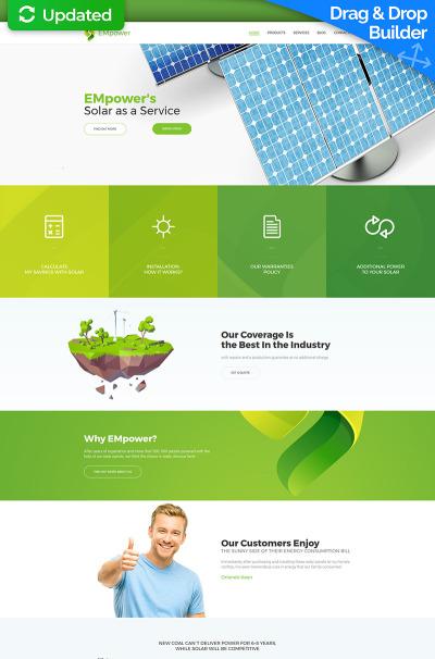 Responsive Plantilla Moto CMS 3  #63485 para Sitio de  para Sitio de Energía solar