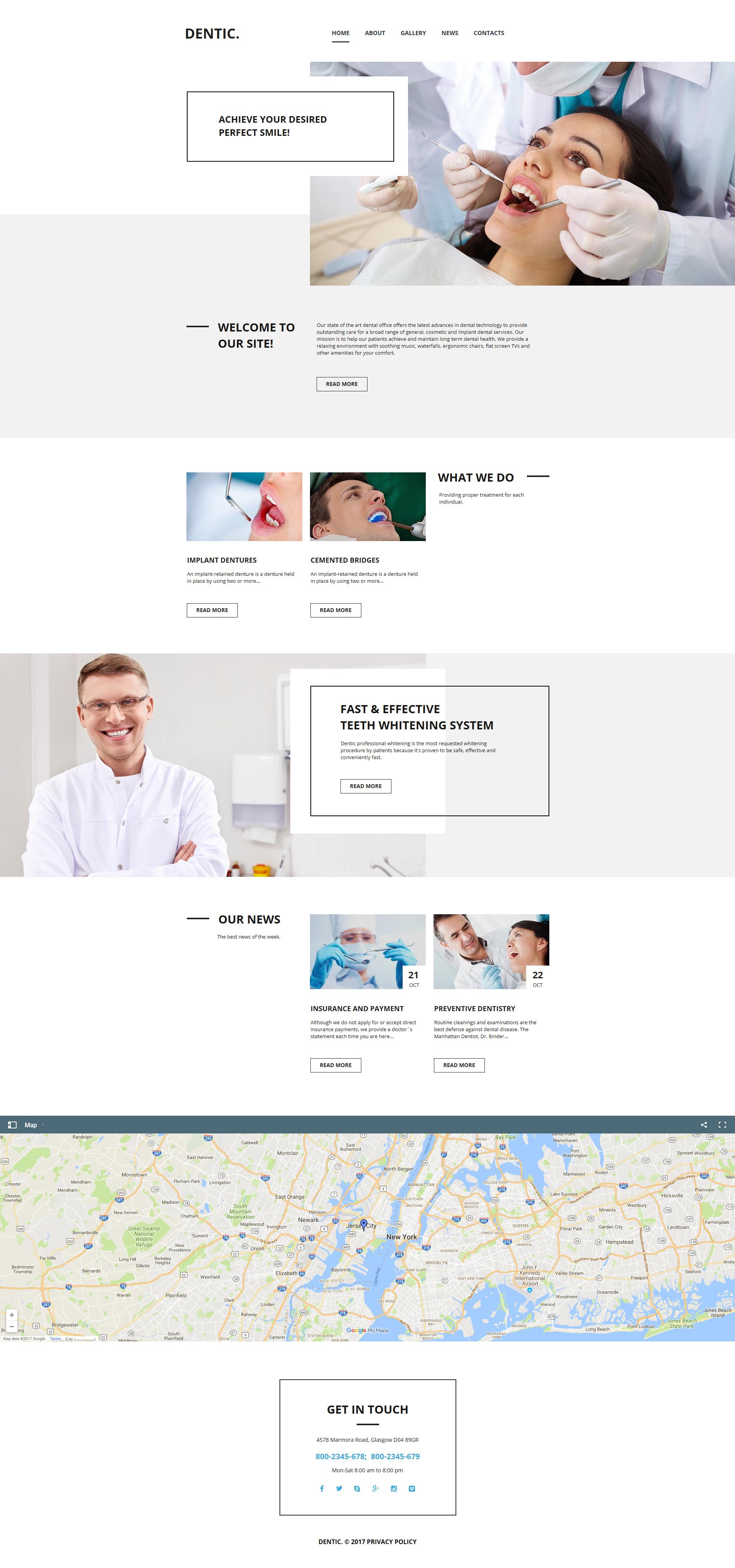 Plantilla Moto CMS HTML #63448 para Sitio de Odontología